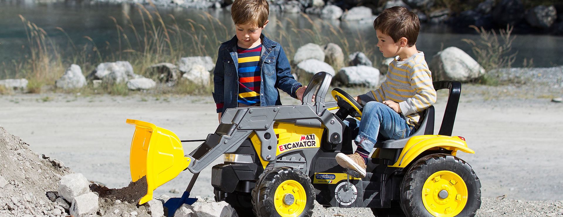 Peg Perego Maxi Excavator Pedal Powered Kids Ride-On