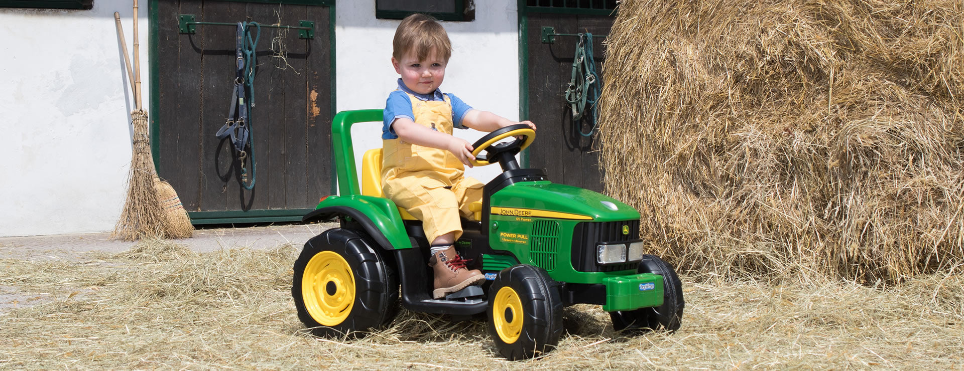 Peg Perego John Deere Power Pull 6v Electric Ride-on Kids Tractor