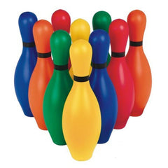 10-Pins Rainbow Coloured Bowling Pins and Score Pad