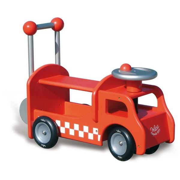 Vintage Fire Truck Kids Ride On Push Car