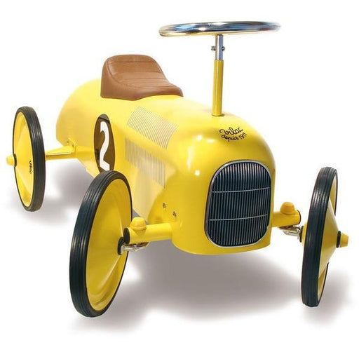 Vilac Classic Vintage Ride On Toy Car Yellow - Kids Car Sales