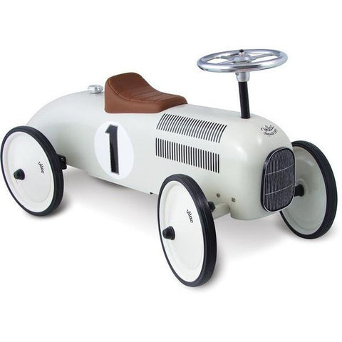 Vilac Classic Vintage Kids Ride On Toy Car White