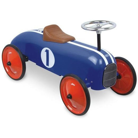Vilac Classic Vintage Kids Ride On Toy Car Blue