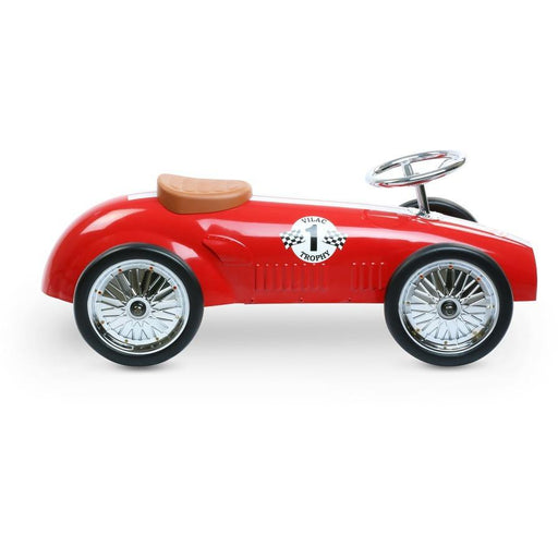 Vilac Classic Vintage Racer Ride On Toy Car Red - Kids Car Sales