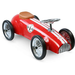 Vilac Classic Vintage Racer Ride On Toy Car Red
