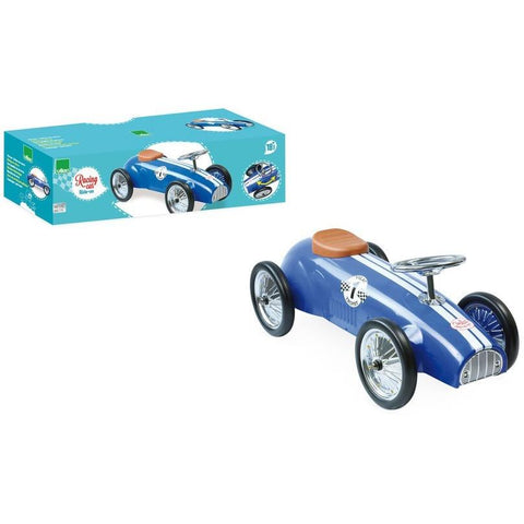 Vilac Classic Vintage Racer Ride On Toy Car Blue