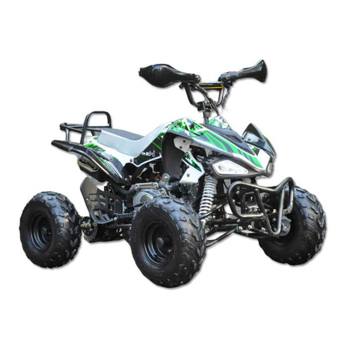 Motoworks Green Motoworks 125cc Petrol-Powered 4-Stroke Sports Quad Bike MOT-125ATV-SP-GRE