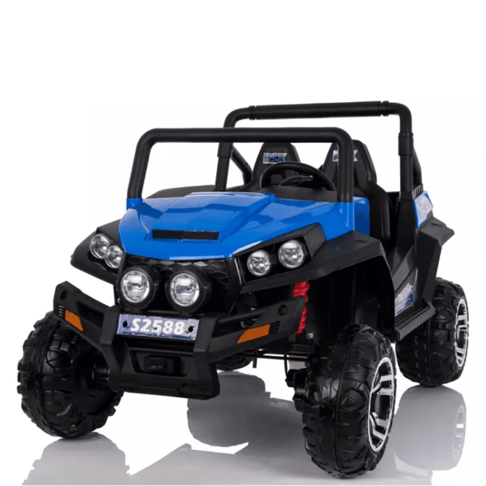 Kids Car Sales Big 2-Seat Trail-Cat 24v Kids Ride-On Buggy w/ Remote - Blue BJS2588-1-BLU