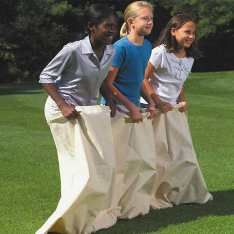 3 Person Team Potato Sack Race Game for Kids