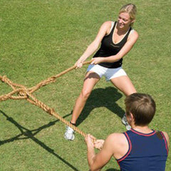 4-Way 4-Person Tug of War Rope Game