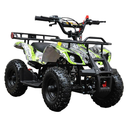 Motoworks Motoworks 500w 36v Electric Farm Brushless Kids Quad Bike - Green MOT-500EATV-FA-GRE