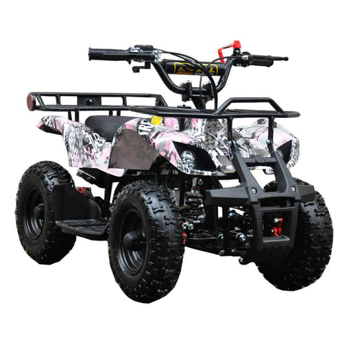 Motoworks 500w 36v Electric Farm Brushless Kids Quad Bike - Pink MOT-500EATV-FA-PIN