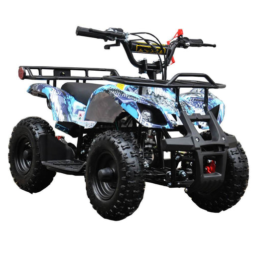 Motoworks Motoworks 500w 36v Electric Farm Brushless Kids Quad Bike - Blue MOT-500EATV-FA-BLU