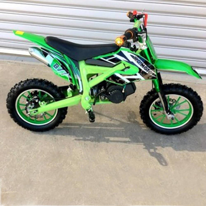MJM MJM 49cc Petrol Powered 2-Stroke Kids Dirt Bike - Green MJM-49DB-GRE