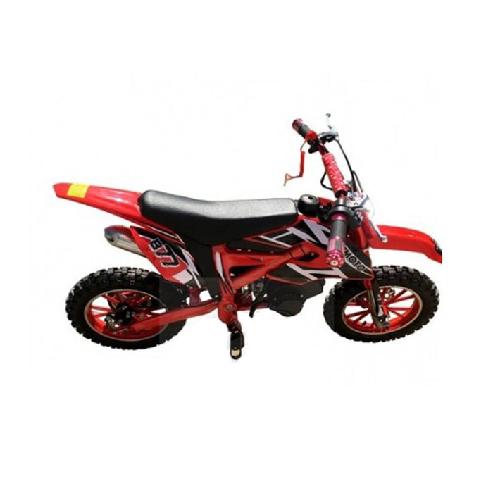 MJM MJM 49cc Petrol Powered 2-Stroke Kids Dirt Bike - Red MJM-49DB-RED