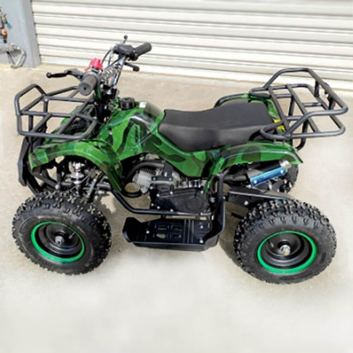 MJM MJM 49cc Petrol Powered 2-Stroke Farm Kids ATV Quad Bike - Green MJM-49ATV-FA-GRE