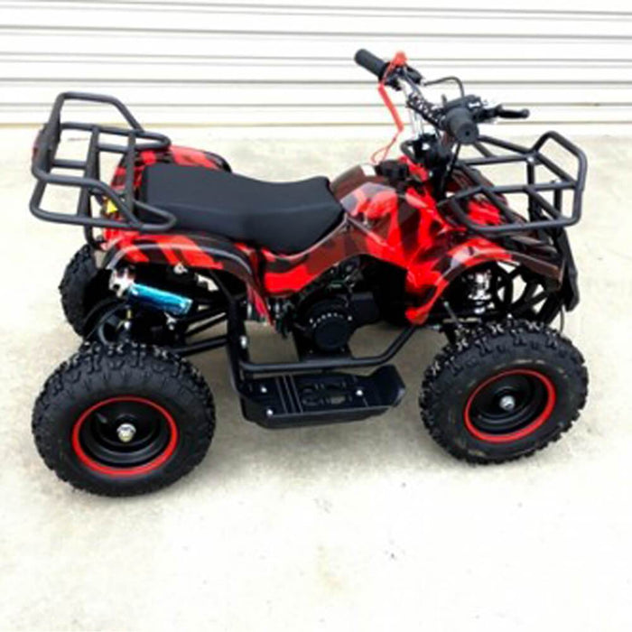 MJM MJM 49cc Petrol Powered 2-Stroke Farm Kids ATV Quad Bike - Red MJM-49ATV-FA-RED