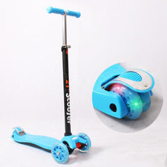 Kids 3-Wheel Scooter with Flashing Lights on Wheels
