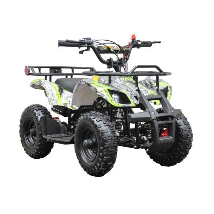 GMX Green GMX 49cc Air Cooled Petrol Powered 2-Stroke Farm Quad Bike for Kids GE-49FQGRN