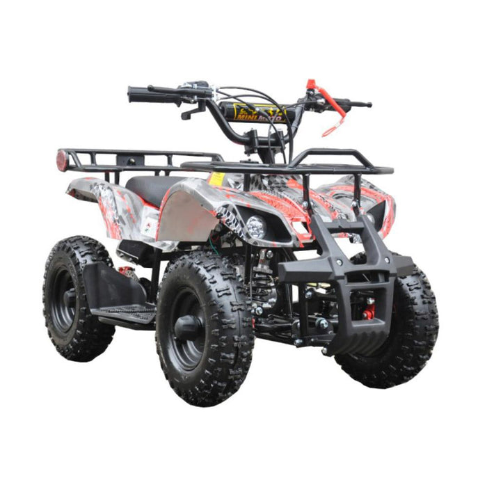 GMX Red GMX 49cc Air Cooled Petrol Powered 2-Stroke Farm Quad Bike for Kids GE-49FQRED