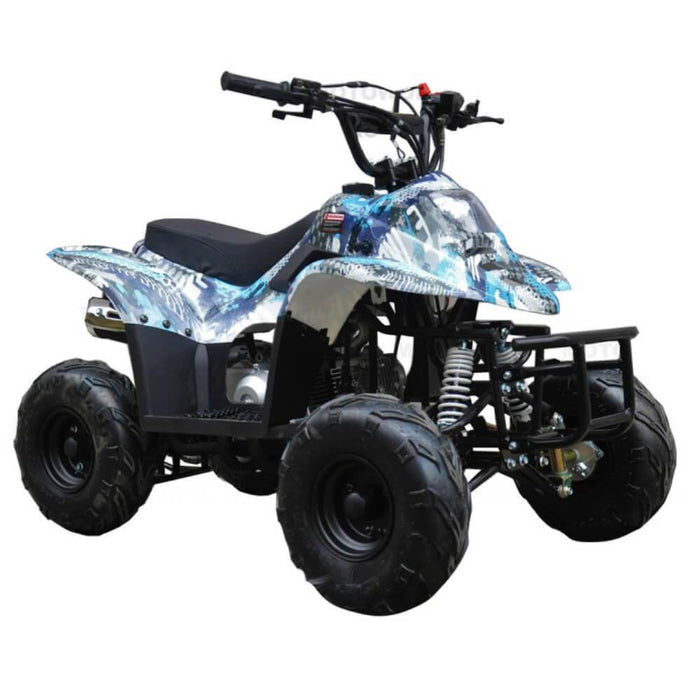 GMX GMX 110cc Sports Air-Cooled HP 4-Stroke Kids Quad Bike - Blue GE-110QBBLU