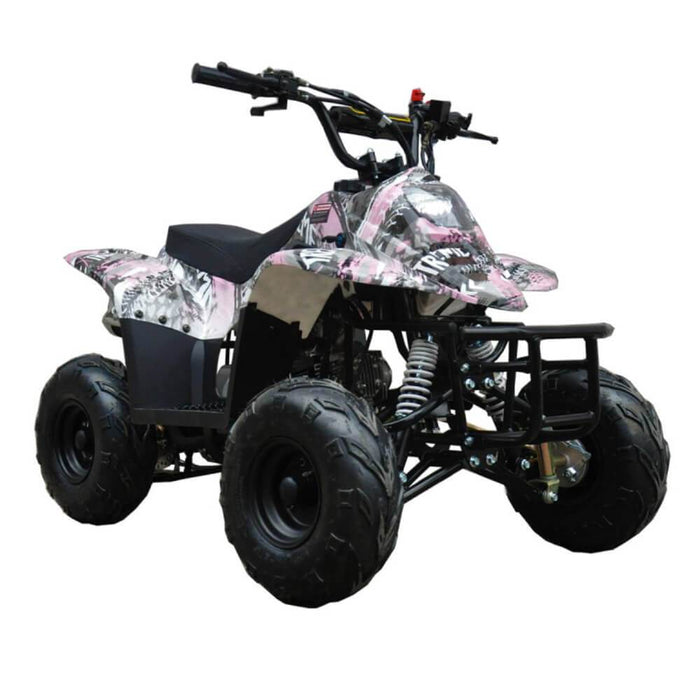 Motoworks Motoworks 110cc Petrol Powered 4-Stroke Sports Kids Quad Bike - Pink MOT-110ATV-SP-PIN