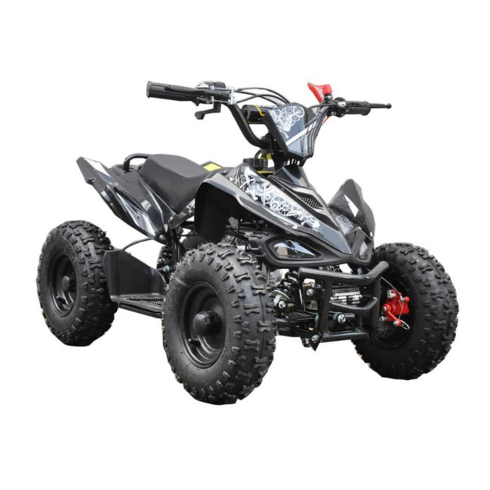 Motoworks Motoworks 49cc Petrol Powered 2-Stroke Sports Kids Quad Bike - Black MOT-49ATV-SP-BLA