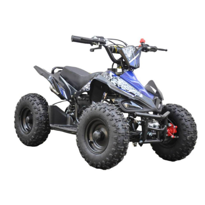 GMX Blue GMX 49cc Sports Buggy Petrol Powered 2-Stroke Kids Quad Bike GE-49SQBLU