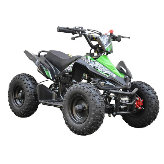 GMX Green GMX 49cc Sports Buggy Petrol Powered 2-Stroke Kids Quad Bike GE-49SQGRN