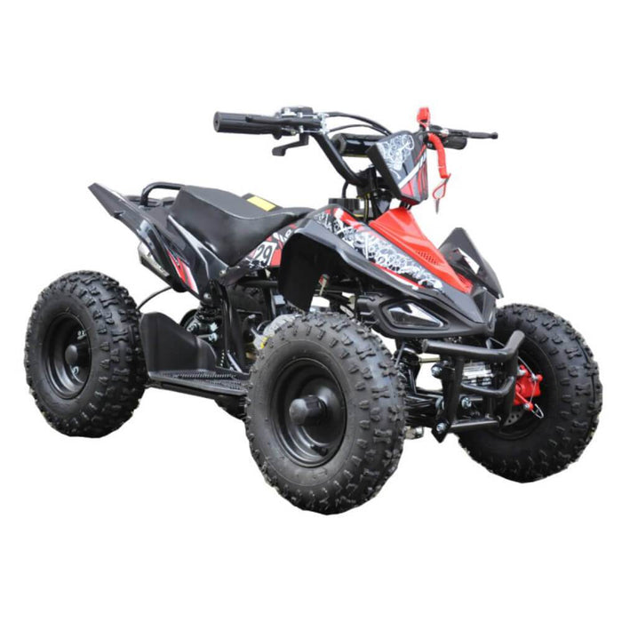 GMX Red GMX 49cc Sports Buggy Petrol Powered 2-Stroke Kids Quad Bike GE-49SQRED