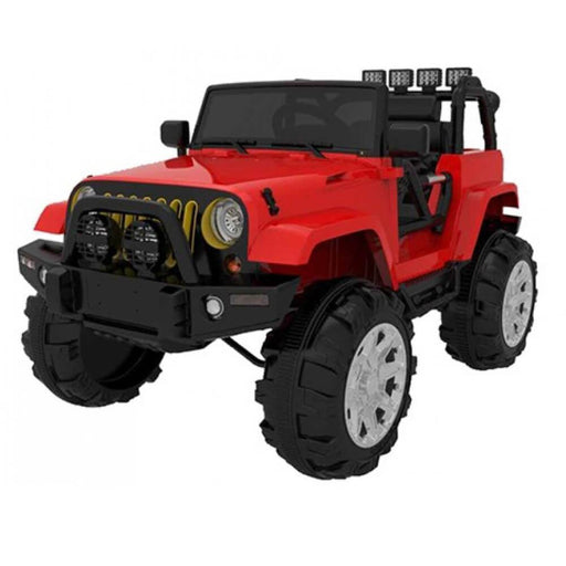 Go Skitz 12v Jeep Wrangler Inspired Ride-On Kids Car in Red - Kids Car Sales