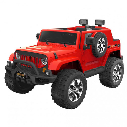 Go Skitz Red Go Skitz Jeep Style 12V Kids Electric Ride On with Spare Wheel GS-8390065R