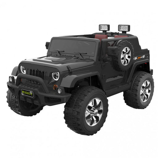 Go Skitz Black Go Skitz Jeep Style 12V Kids Electric Ride On with Spare Wheel GS-8390065B