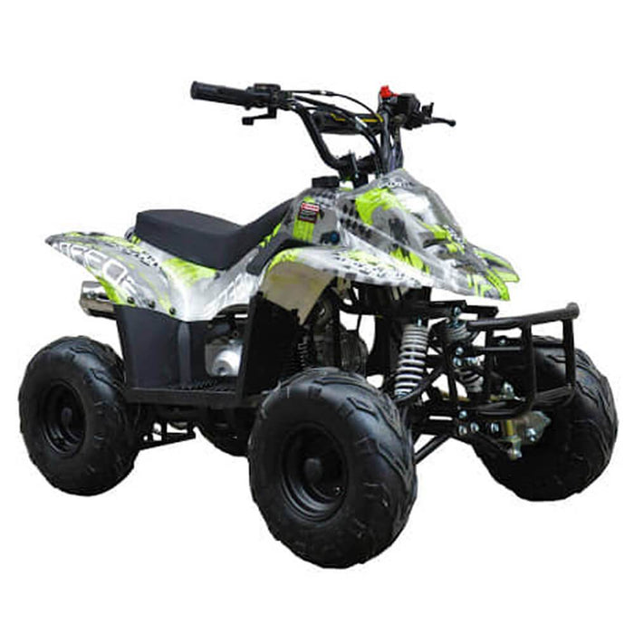 Motoworks Motoworks 110cc Petrol Powered 4-Stroke Sports Kids Quad Bike - Green MOT-110ATV-SP-GRE
