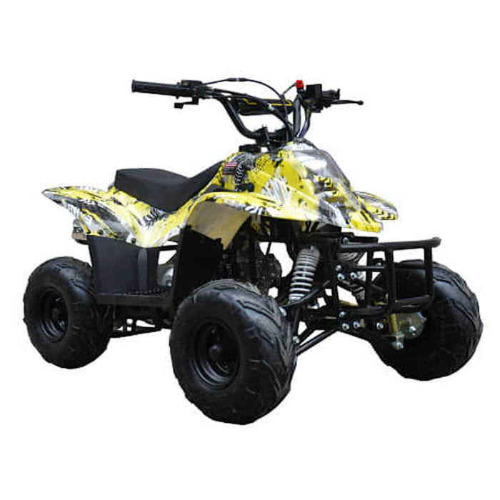 Motoworks Motoworks 110cc Petrol Powered 4-Stroke Sports Kids Quad Bike - Yellow MOT-110ATV-SP-YEL