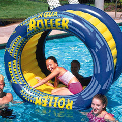Aqua Roller Fun Float Inflatable Pool Water Wheel