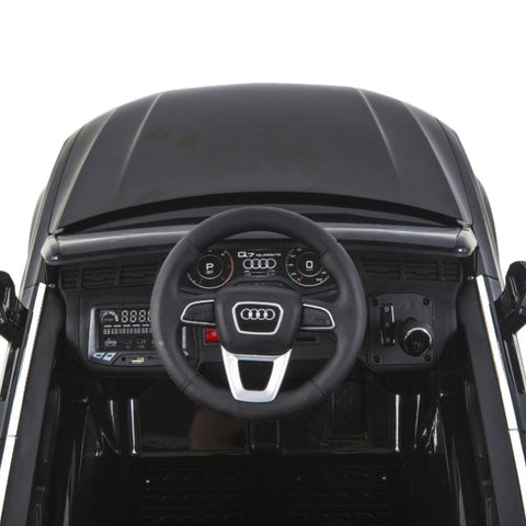 Audi Q7 Licensed Black 12v Ride-On Kids Car - Kids Car Sales