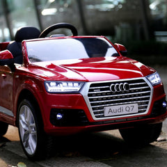 Audi Q7 Licensed Red 12v Ride-On Kids Car
