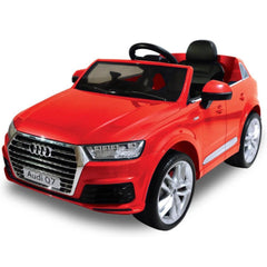 Audi Q7 Licensed Red 12v Ride-On Kids Car - Kids Car Sales