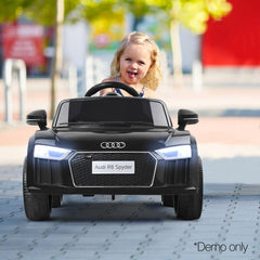 Audi R8 Licensed Black 12v Ride-On Kids Car