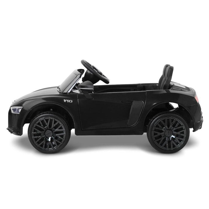 Unbranded Audi R8 Licensed Black 12v Ride-On Kids Car (Open Box) RCAR-R8-S-BK