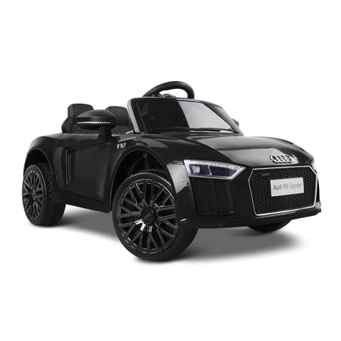 Audi R8 Licensed Black 12v Ride-On Kids Car - Kids Car Sales