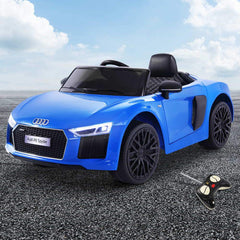 Audi R8 Licensed Blue 12v Ride-On Kids Car