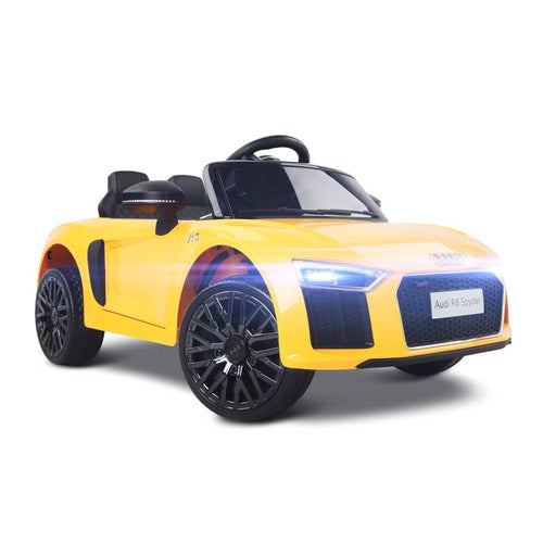 Audi R8 Licensed Yellow 12v Ride-On Kids Car