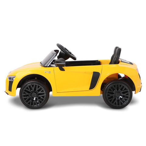 Audi R8 Licensed Yellow 12v Ride-On Kids Car - Kids Car Sales