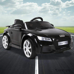 Audi TT RS Roadster Licensed Black 12v Ride-On Kids Car
