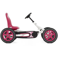BERG Buddy White & Pink Kids Ride On Pedal Kart