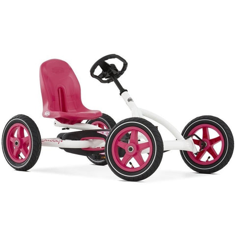 BERG Buddy White & Pink Kids Ride On Pedal Kart - Kids Car Sales