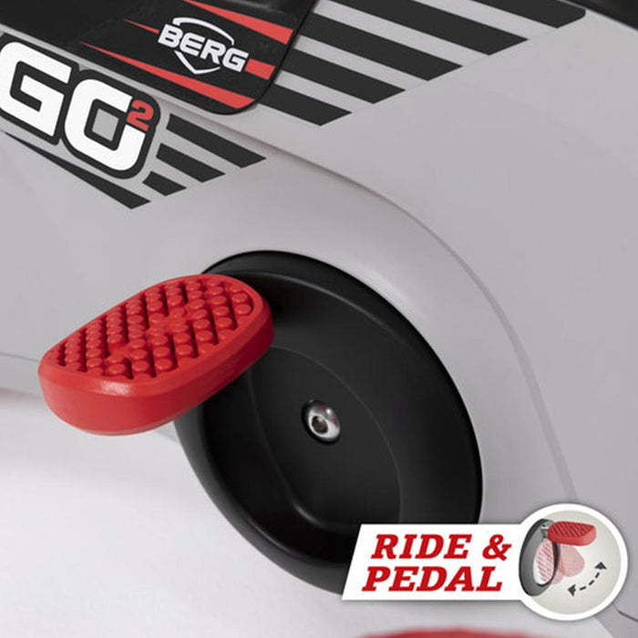 BERG BERG GO² SparX Red 2-in-1 Pedal Kart/Push Car for Toddlers 24.50.03.00