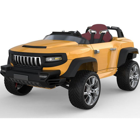 Henes Broon Orange T870 4WD 24v Kids Ride On Luxury SUV With Tablet PC